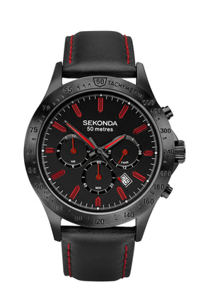 Sekonda Men's Black Ionic Plated Dress Watch
