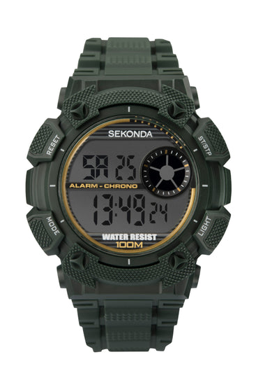 Sekonda Men's Green Strap Digital Watch