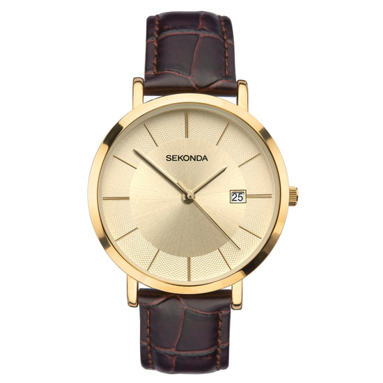 Sekonda Men's Classic Brown Strap Watch