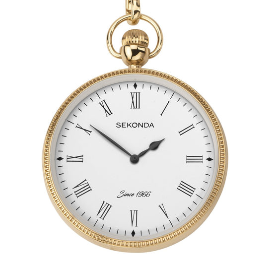 Sekonda 1793 Men's Gold Plated Pocket Watch