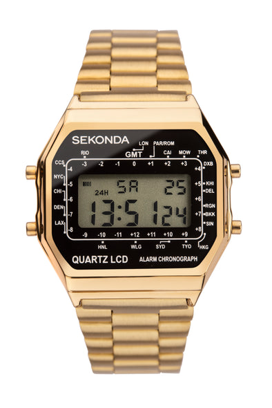 Sekonda Men's Digital Display Gold Coloured Bracelet Watch
