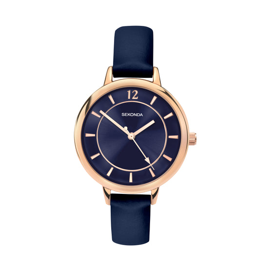 Sekonda Editions Dark Blue Strap Watch Front View