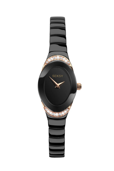 Seksy Women's Black Dial and Bracelet Watch
