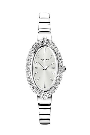 Seksy Women's Oval Shaped Bracelet Watch