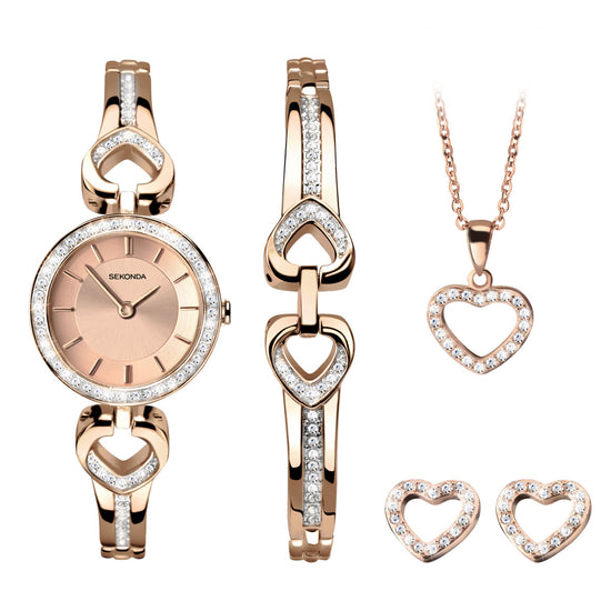 Sekonda Women's 4-Piece Love Heart Gift Set 2363G Front View