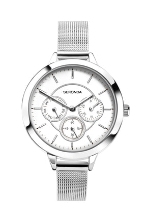 Sekonda Women's Silver Coloured Milanese Bracelet Watch