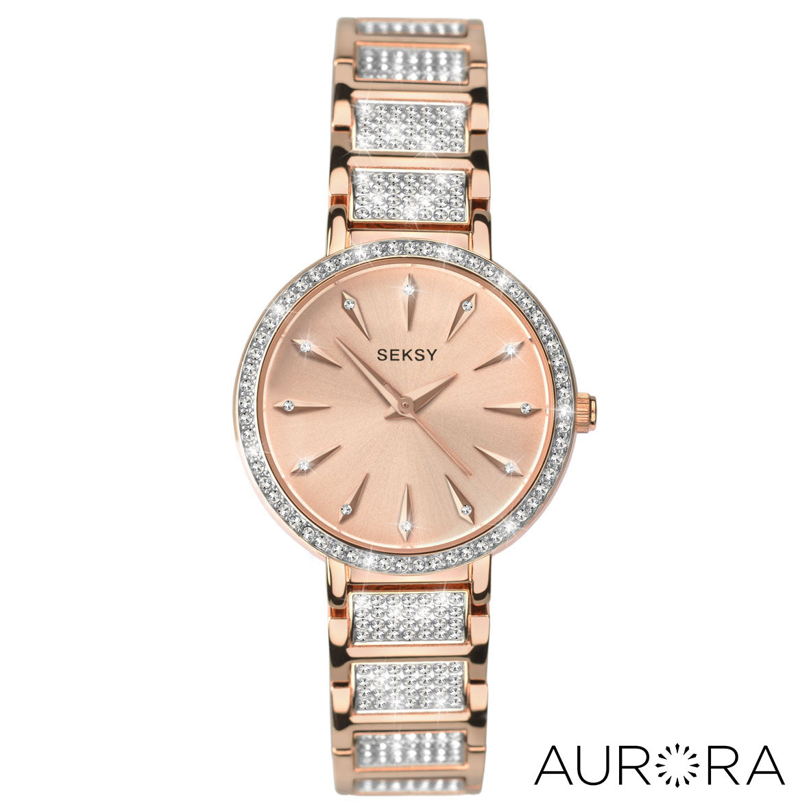 982859c575d7 Seksy Aurora Rose Gold Plated Bracelet Watch. £99.99. Default Title. Drag  or Hover to Zoom. 2372 Front View