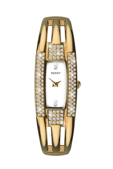 Seksy Women's Gold Plated Bracelet Watch