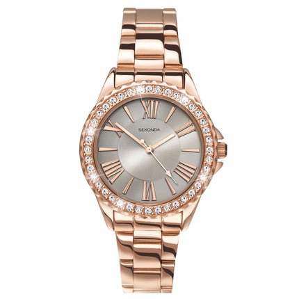 Sekonda Women's Fashion Rose Gold Watch - 2397 Front View