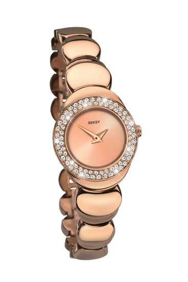 Seksy Women's Rose Gold Plated Bracelet Watch