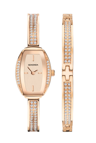 Sekonda Women's Rose Gold 2 Piece Gift Set