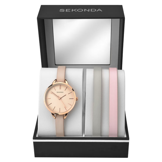 Sekonda Editions 3-Piece Gift Set Front view in case