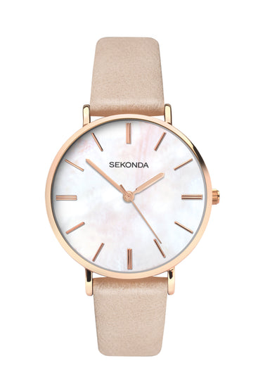 Sekonda Women's Mother of Pearl PU Strap Watch