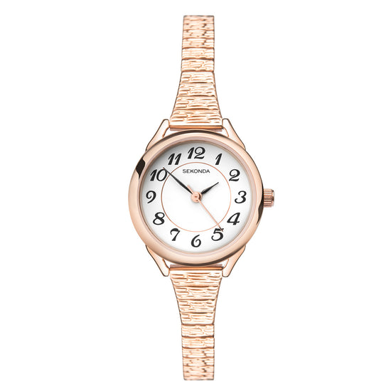 Sekonda Women's Classic Rose Gold Plated Expander Watch