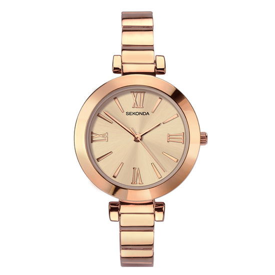Sekonda Editions Women's Rose Gold Plated Bracelet Watch