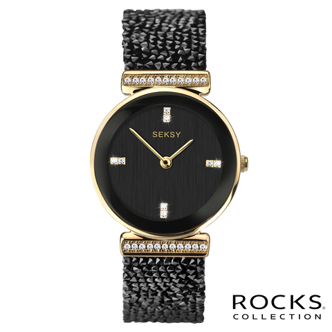 Seksy Rocks® Gold Plated Bracelet Watch