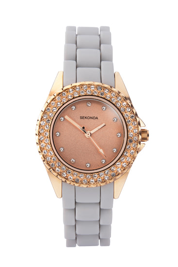 Sekonda Women's Grey Silicon Strap Watch