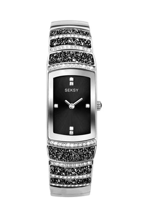 Seksy Rocks® Women's Stainless Steel Bracelet Watch
