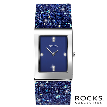 Seksy Rocks® Blue Stone Set Bracelet Watch