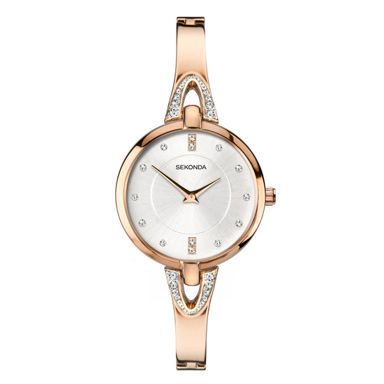 Sekonda Women's Rose Gold Plated Dress Watch