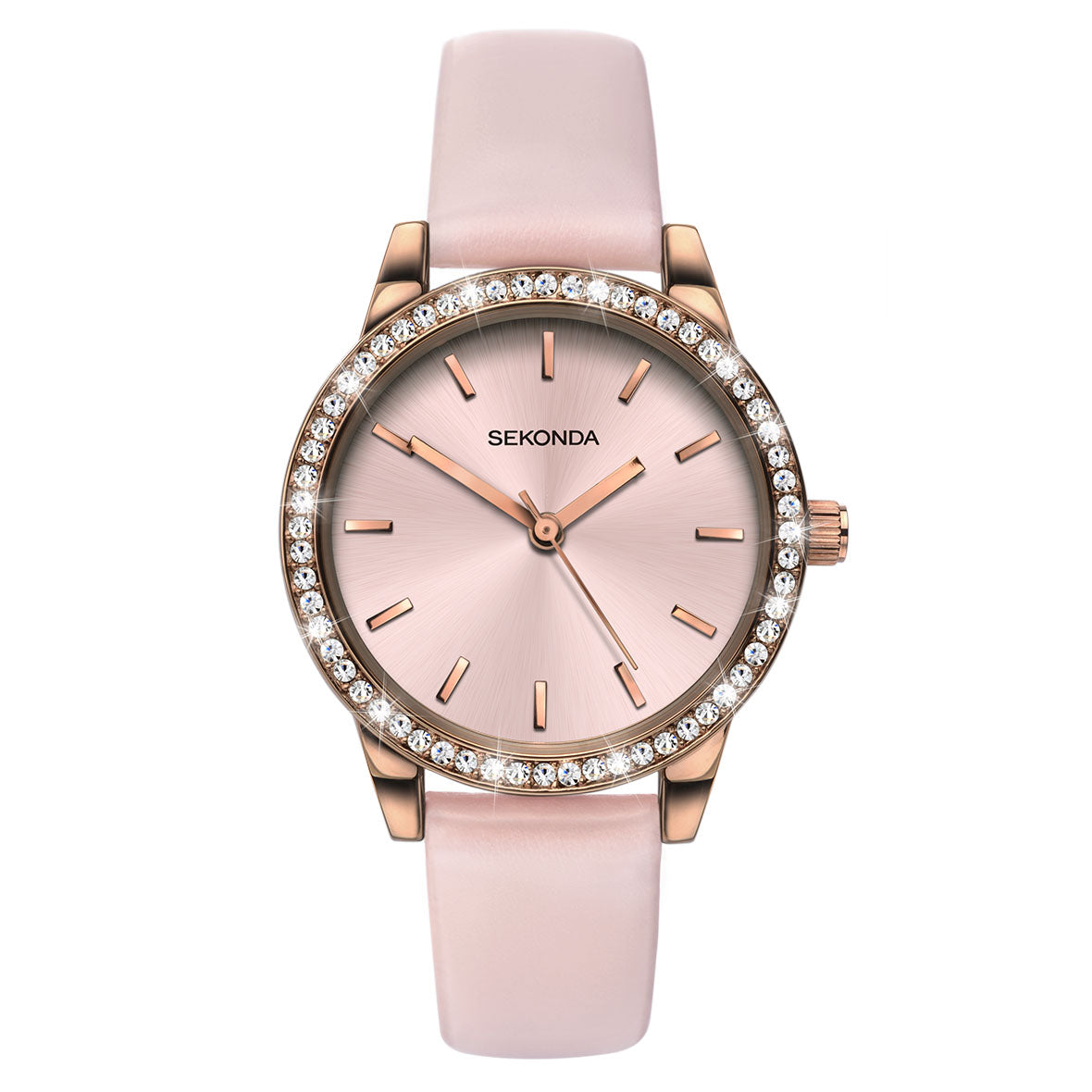 Sekonda Editions Women s Rose Gold Plated Strap Watch bfb5e69bcef9