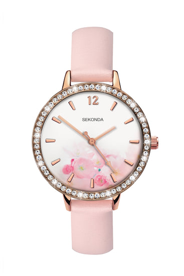 Sekonda Women's Floral Dial Strap Watch