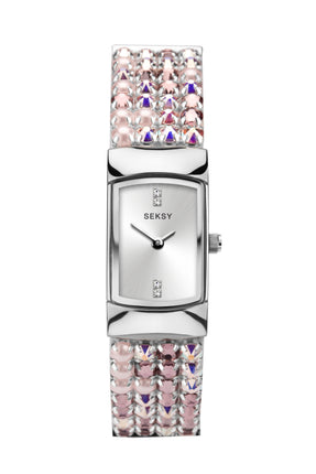Seksy Iridescent Pink Bracelet Watch
