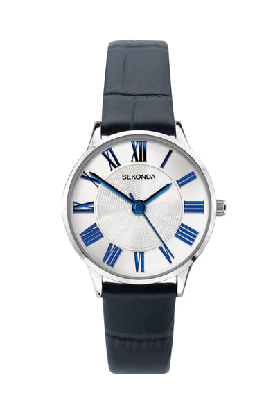 Sekonda Women's Blue Leather Strap Watch