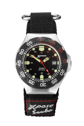 Sekonda Men's Xpose Scuba Diving Black Dial Strap Watch