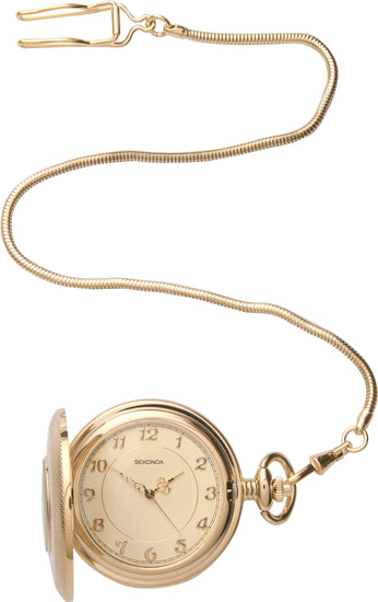 Sekonda Men's Gold Plated Hunter Style Pocket Watch