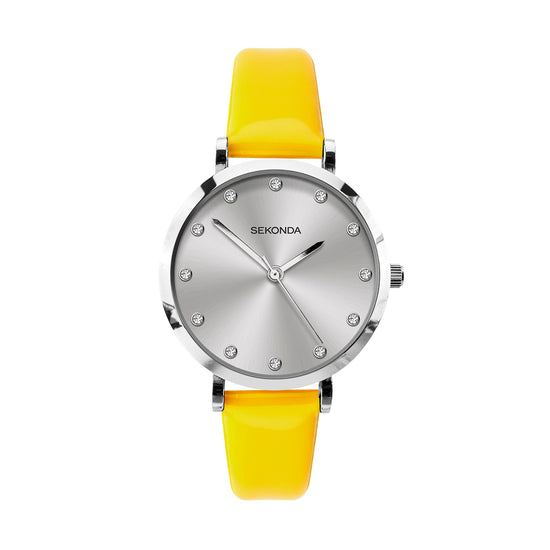 Sekonda Editions Women's Neon Yellow Strap Watch
