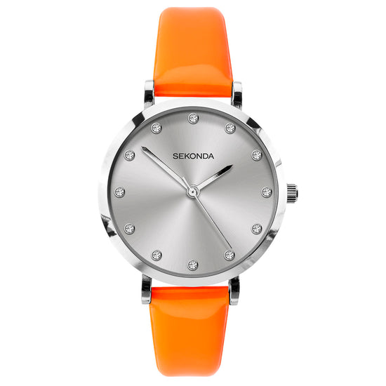Sekonda Editions Women's Neon Orange Strap Watch