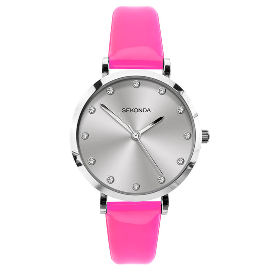 Sekonda Editions Women's Neon Pink Strap Watch