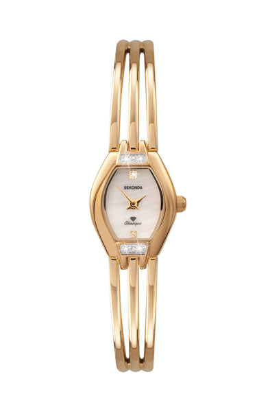 Sekonda Women's Gold Plated Stainless Steel Bracelet Watch