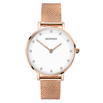 Sekonda Editions Women's Rose Gold Milanese Bracelet Watch
