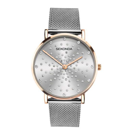 Sekonda Editions Women's Stone Set Dial Bracelet Watch