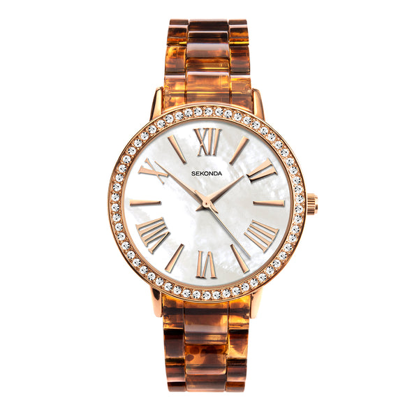 Sekonda Editions Women's Tortoiseshell Pattern Bracelet Watch
