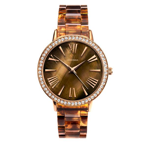 Sekonda Editions Women's Tortoiseshell Bracelet Watch