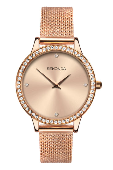 Sekonda Women's Rose Gold Milanese Bracelet Watch