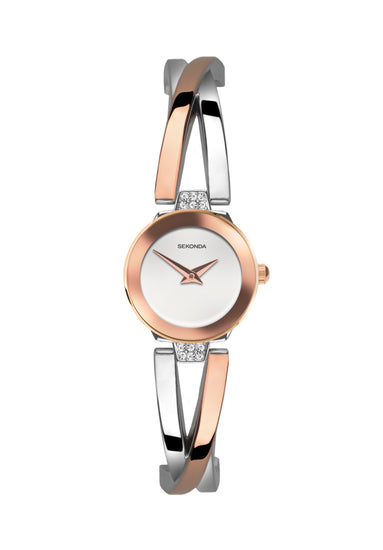 Sekonda Women's Two-Tone Semi-Bangle Dress Watch