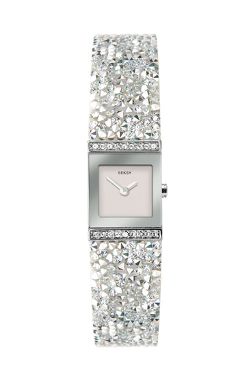 Seksy Rocks® Silver Coloured Delicate Bracelet Watch