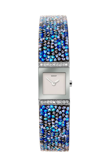 Seksy Rocks® Blue Delicate Bracelet Watch