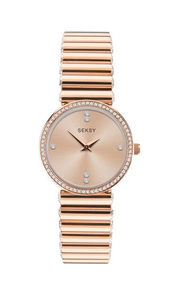 Seksy Edge® Rose Gold Coloured Bracelet Watch