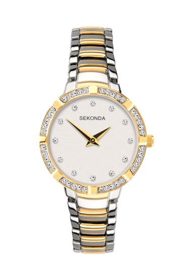 Sekonda Women's Two-Tone Stone Set Bracelet Watch