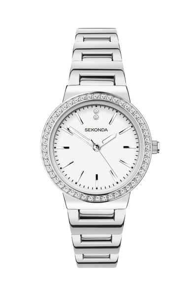 Sekonda Women's Classic Stone Set Bracelet Watch