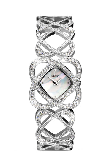 Seksy Women's Stone Set Bracelet Watch