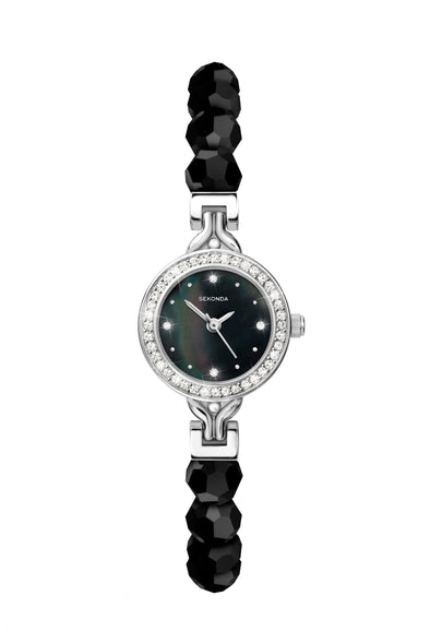 Sekonda Women's Black Beaded Bracelet Watch