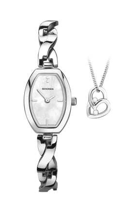 Sekonda Women's Heart Pendant 2 Piece Gift Set