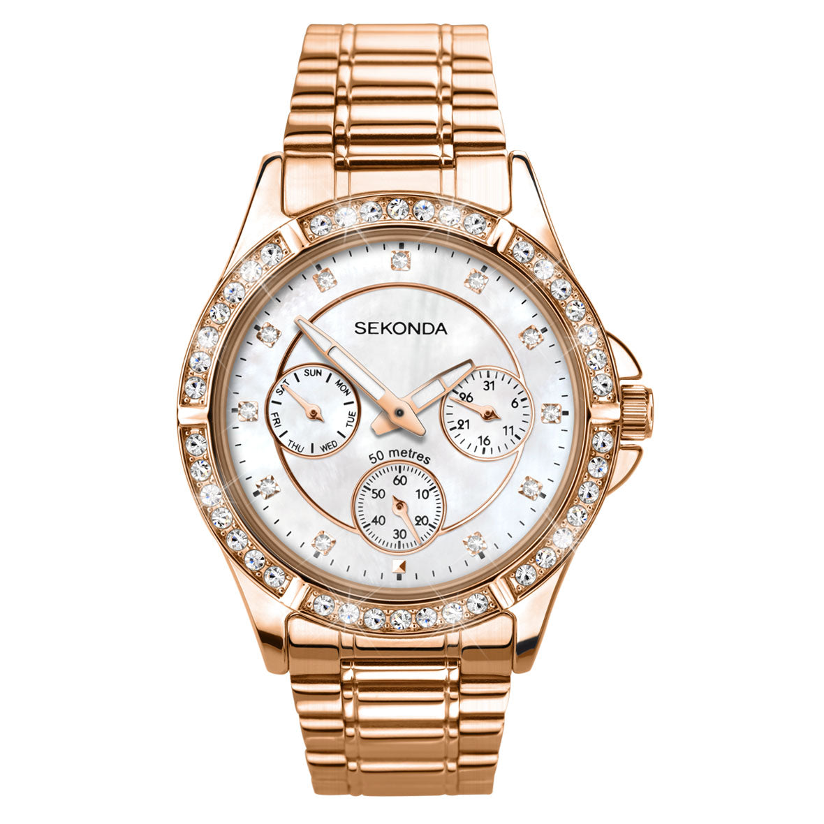 61c413f4d06 Sekonda Editions Women s Rose Gold Plated Watch 4740