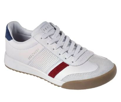 Skechers Lace-Up Sneakers Zinger Retro Rockers White - NEW